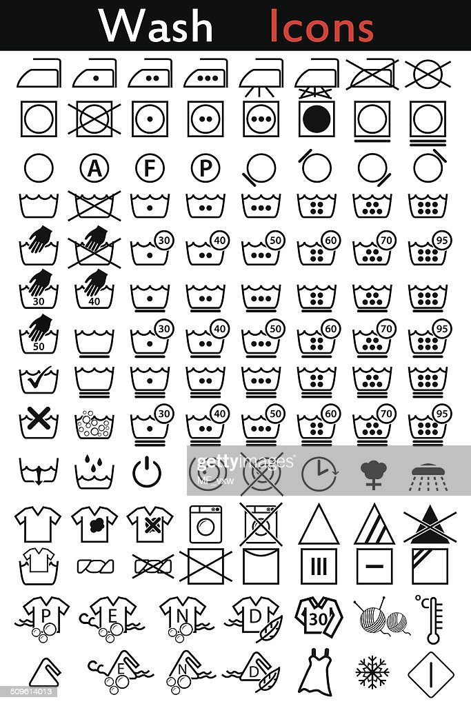 Washing instruction icons