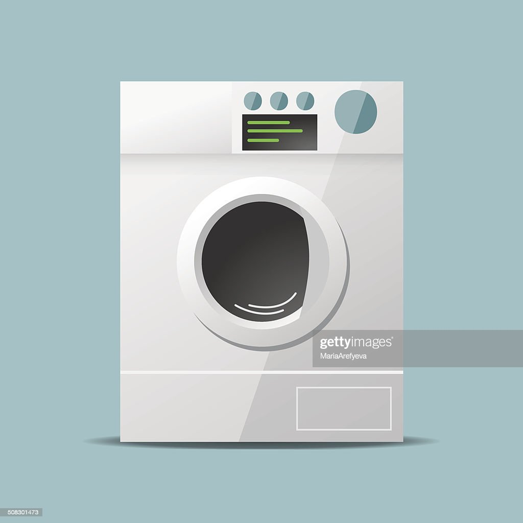 Washing machine flat vector design