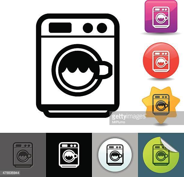Máquina de lavar roupa ícone/solicosi série