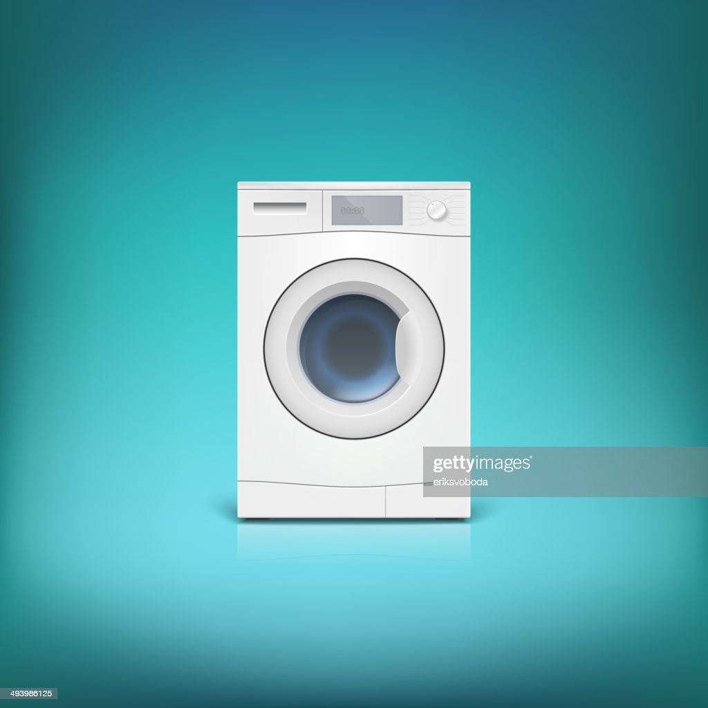 Washing machine isolated.