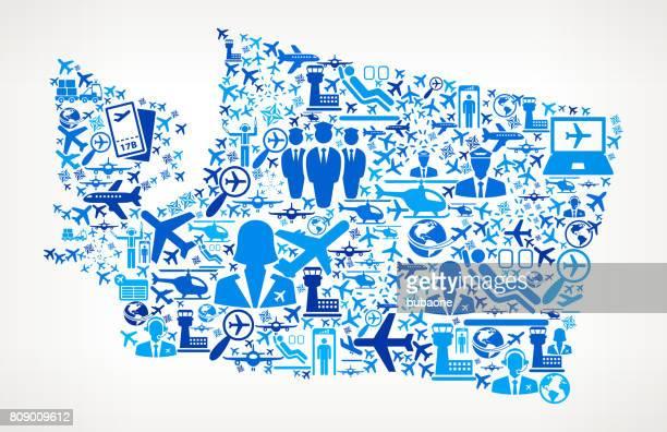 Washington Aviation and Air Planes Vector Graphic