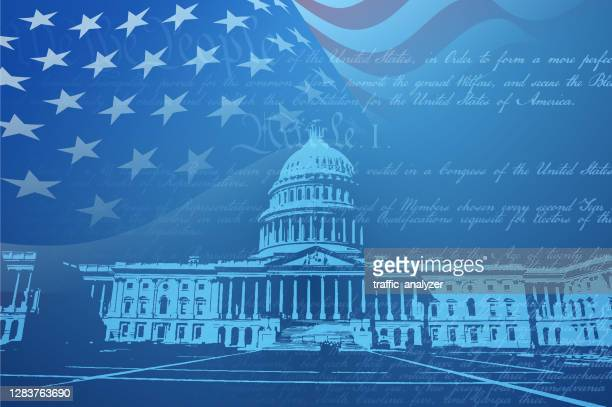 washington dc background - presidential election stock illustrations