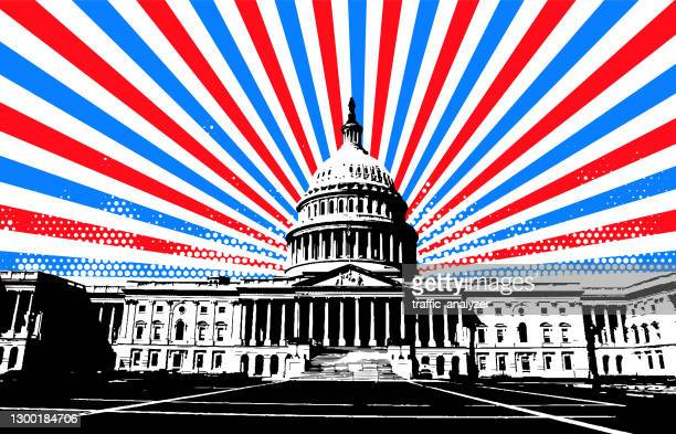 washington dc background - us president stock illustrations