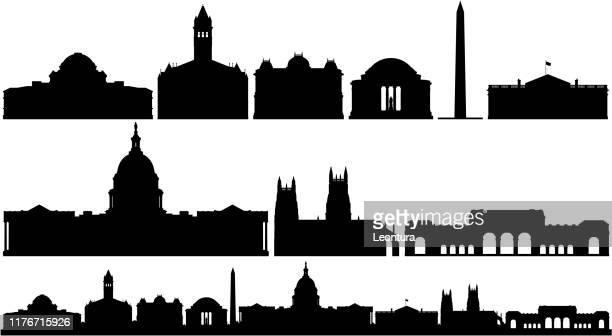 ワシントンdcビルズアンドスカイライン - 州議会議事堂点のイラスト素材/クリップアート素材/マンガ素材/アイコン素材