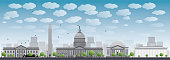 Washington DC city skyline silhouette