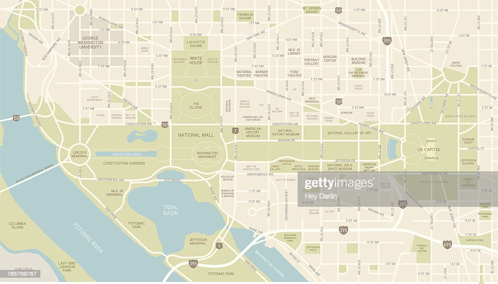 Washington D.C. Map