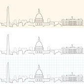 Washington Hand Drawn Skyline