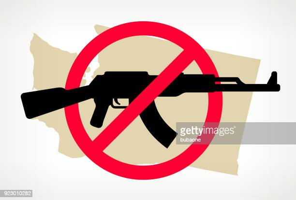 Washington No Gun Violence Vector Poster
