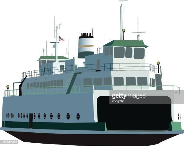 washington state ferry - ferry stock illustrations