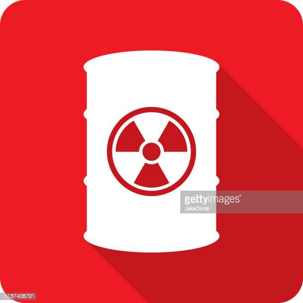waste barrel icon silhouette - radioactive contamination stock illustrations