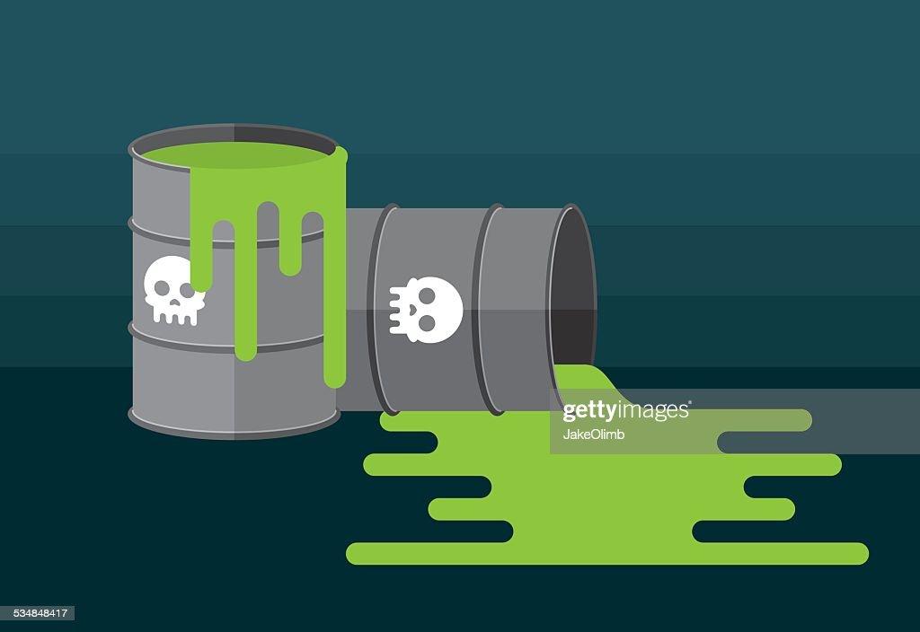 Waste Barrels : stock illustration
