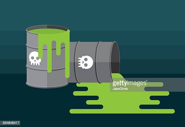 waste barrels - occupational safety and health stock illustrations, clip art, cartoons, & icons