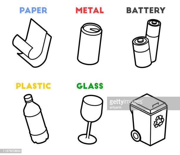 bildbanksillustrationer, clip art samt tecknat material och ikoner med avfallshantering - sopor