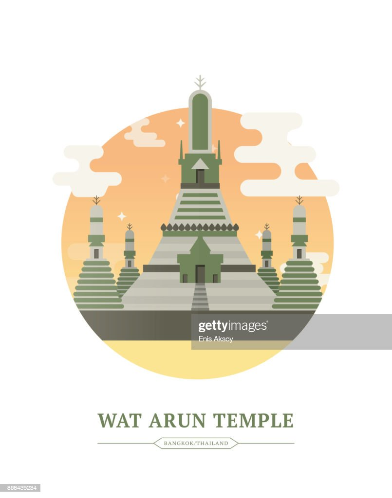 Wat Arun : stock illustration