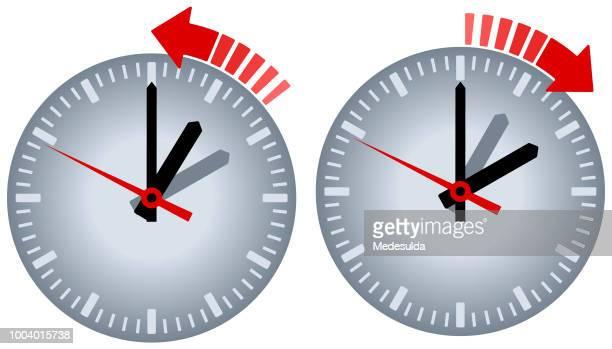 watch daylight saving vector icon - daylight saving time stock illustrations