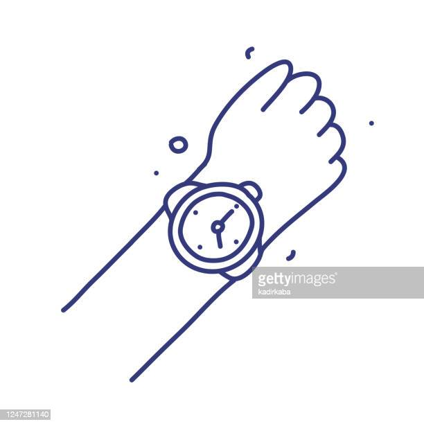 Watch Doodle Vector Illustration Concept Hand Drawn Line