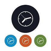 Watch icon, wall clock icon,  vector illustration