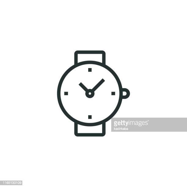 ilustrações, clipart, desenhos animados e ícones de ícone de linha de relógio - segundo tempo esporte