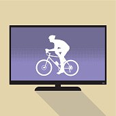 Watch sports on flat tv
