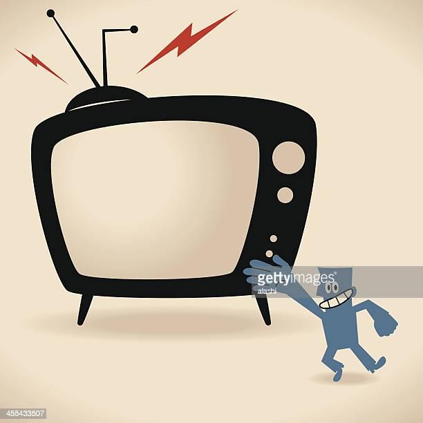 bildbanksillustrationer, clip art samt tecknat material och ikoner med watch your favorite tv shows - television show