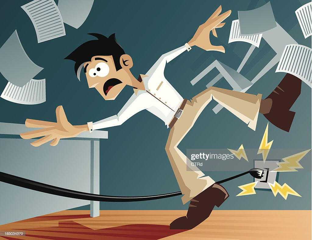 Watch your step! : stock illustration
