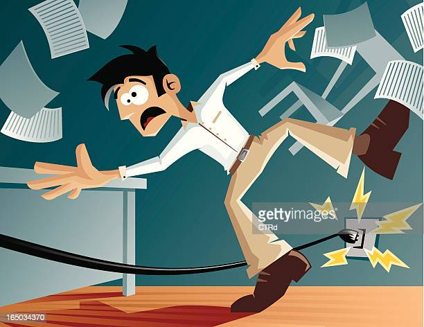 watch your step! - office safety stock illustrations, clip art, cartoons, & icons