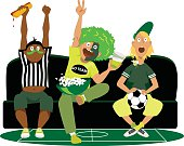 Watching football game