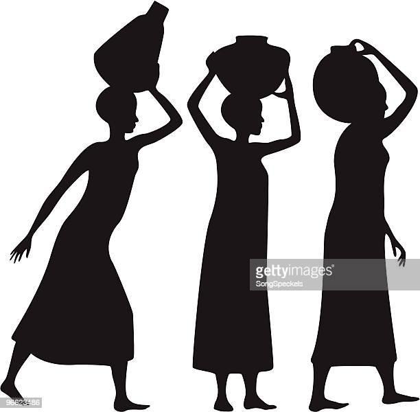 Water Bearers - Women carrying pots