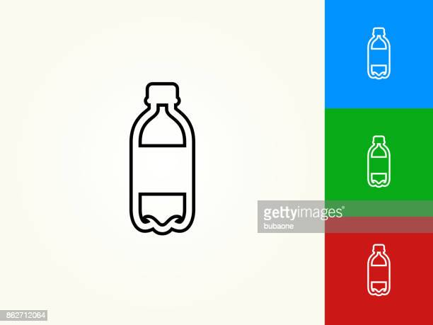 water bottle black stroke linear icon - water bottle stock illustrations, clip art, cartoons, & icons