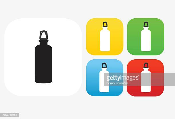 water bottle icon flat graphic design - water bottle stock illustrations, clip art, cartoons, & icons