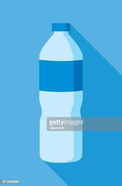water bottle icon flat - water bottle stock illustrations, clip art, cartoons, & icons