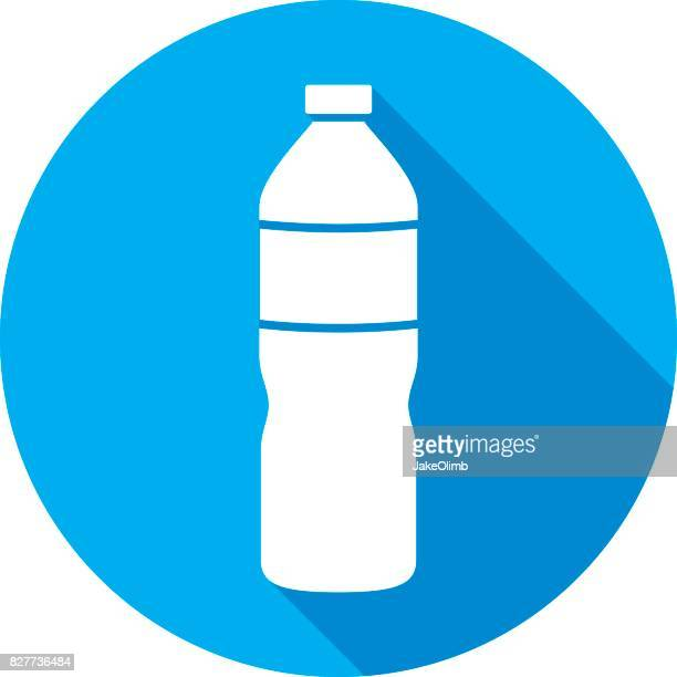 water bottle icon silhouette - water bottle stock illustrations, clip art, cartoons, & icons