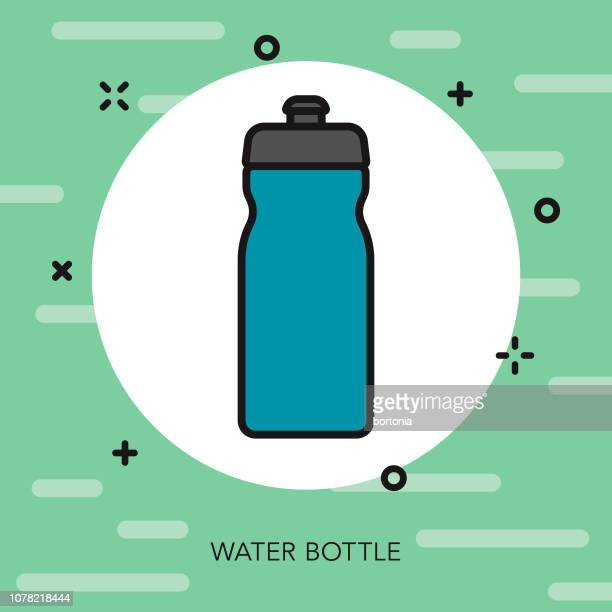 water bottle weight loss thin line icon - water bottle stock illustrations, clip art, cartoons, & icons
