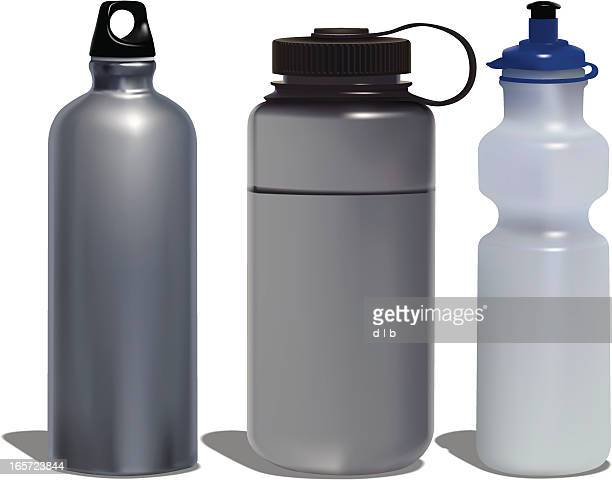 water bottles - water bottle stock illustrations, clip art, cartoons, & icons