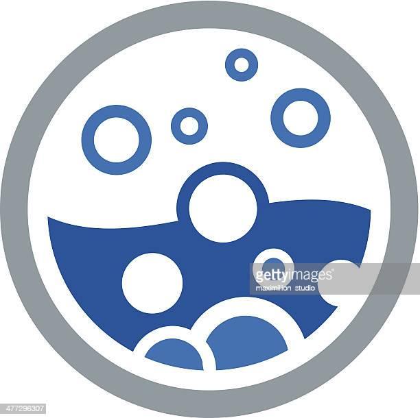 Water bubble circle logo vector illustration