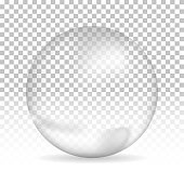 Water bubble on isolated background, vector illustration