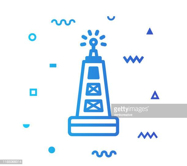 water buoy line style icon design - safety equipment stock illustrations, clip art, cartoons, & icons