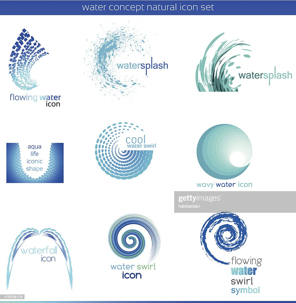 Water concept icon set
