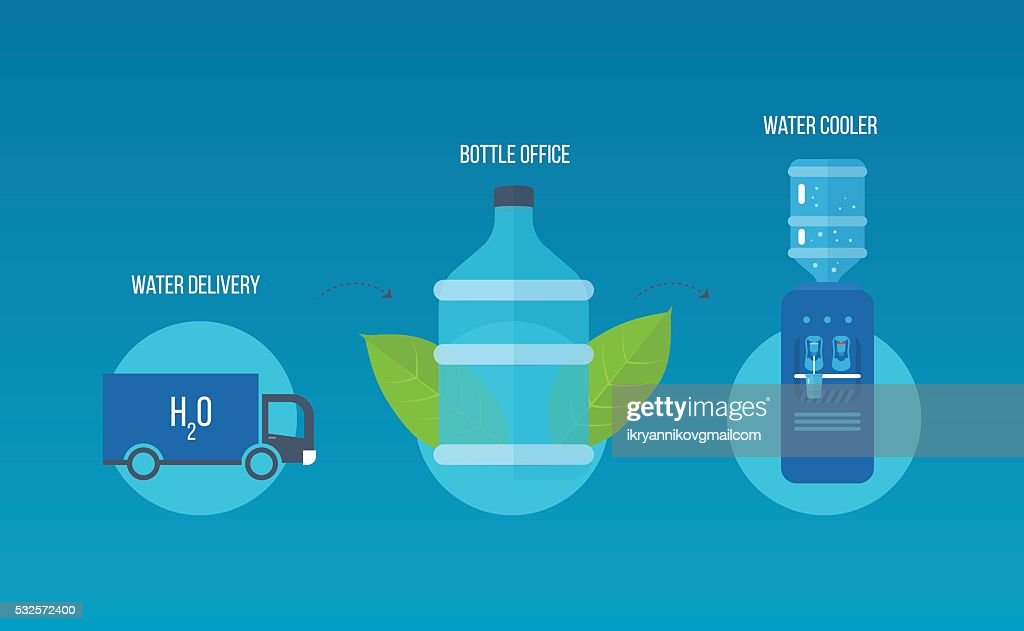 Water cooler. Bottle office, plastic.