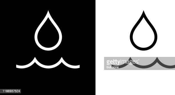 water drop and wave icon - water stock illustrations