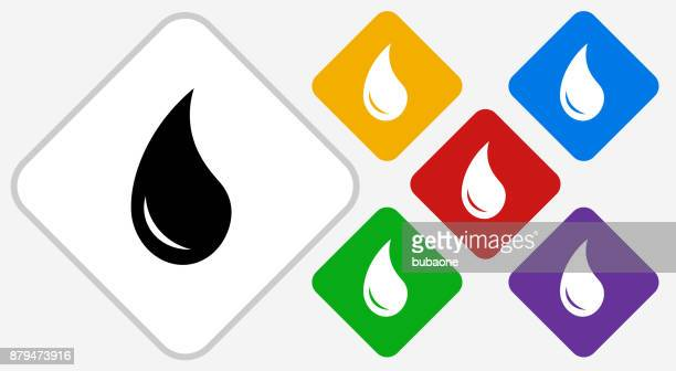 Water Drop Color Diamond Vector Icon