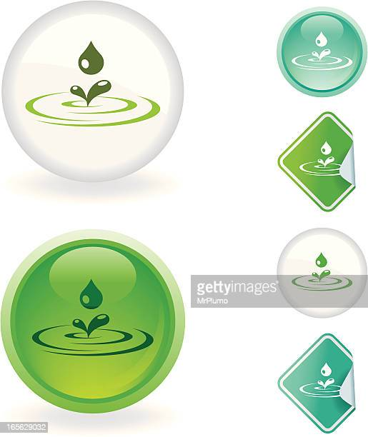 Water drop  icon | Ecological series