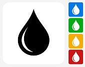 Water drop Icon Flat Graphic Design