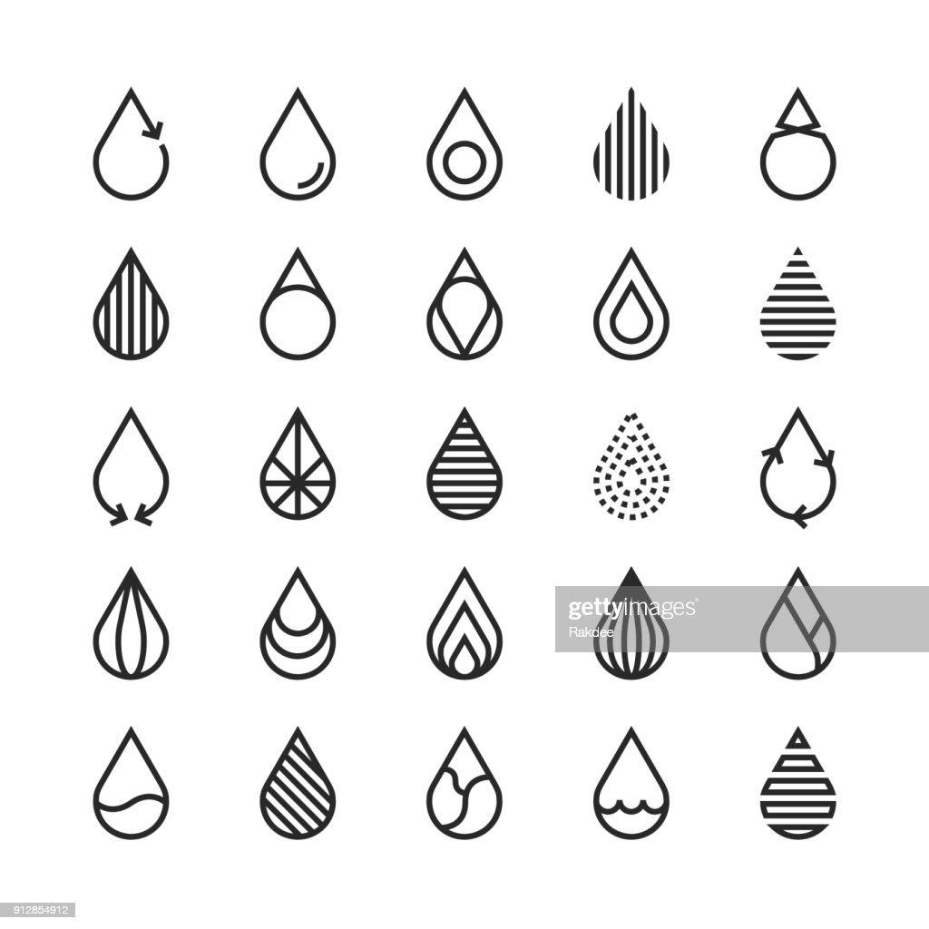 Ícone de gota de água - linha série : Ilustração