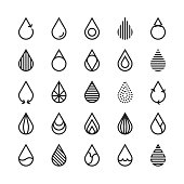 Water Drop Icon - Line Series