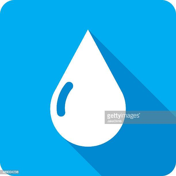 water drop icon silhouette - teardrop stock illustrations