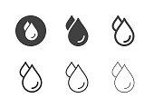 Water Drop Icons - Multi Series