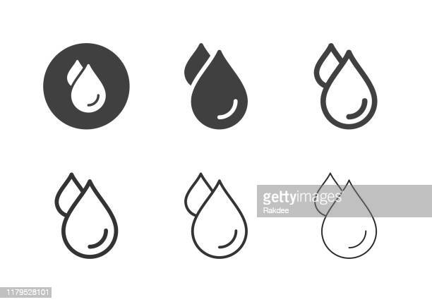 water drop icons - multi series - water stock illustrations