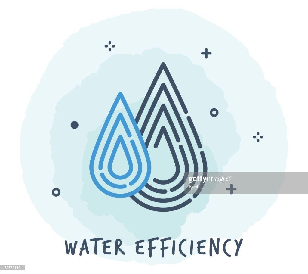 Water Drop Line pictogram : Stockillustraties