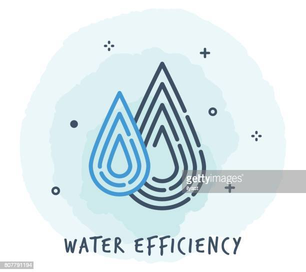 water drop line icon - purity stock illustrations